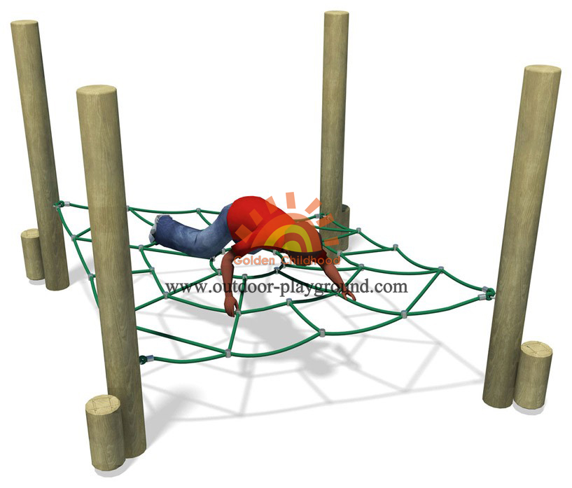 climbing net structure on playground for children