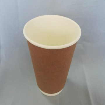 Disposable Kraft Printed Coffee Paper Cup Double Wall
