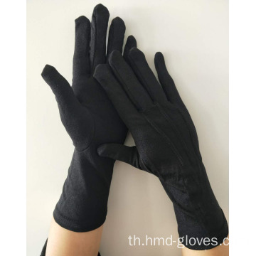 แบล็ค Color Marching Band Cotton Gloves