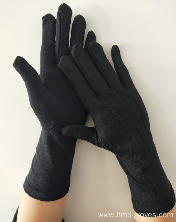 Black Color Marching Band Cotton Gloves