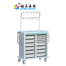 Hospital and clinic infusion cart