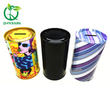 OEM Customized for Custom Tin Gift Cans Round coin tin boxes metal tin money box supply to Italy Factory
