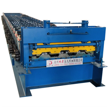 Profile decking floor rolling making machine