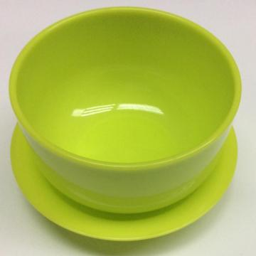 Plastic multifunctional solid color bowl