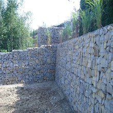 Dam protecting welded galfan gabion basket