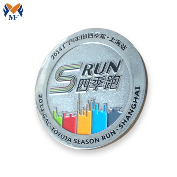 Match 5km runner winner game pin badge