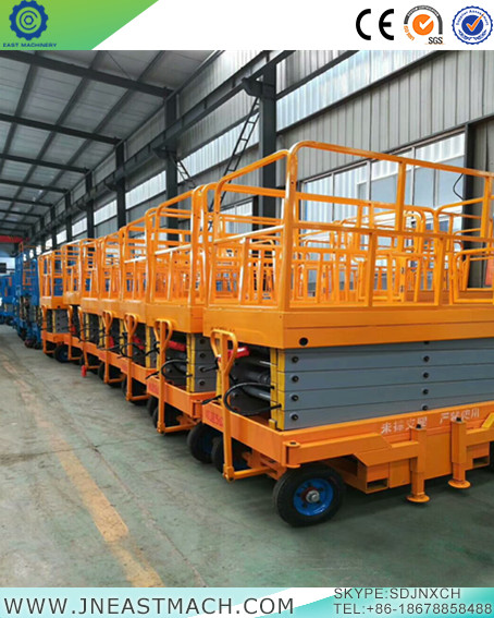 Mobile Scissor Type Lift Platform To Raise Storage For Warehouse Or Workshop
