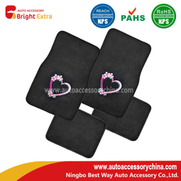 Embroidery Heart Quality Carpet Vehicle Floor Mats