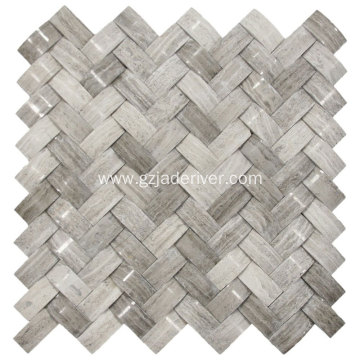 3D Grey Marble Musa dutse don Wall Decor