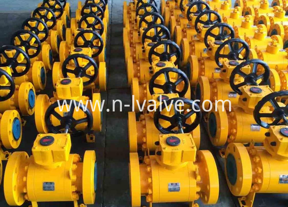 Forged Three Pcs Trunnion Ball Valve