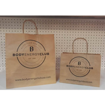 Hot Selling for for Natural Brown Kraft Paper Bag Paper Carrier Bags With Handle export to Venezuela Importers