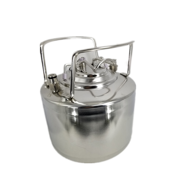 Stainless steel beer can with Pin lock