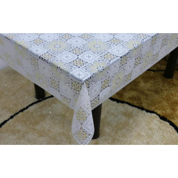 Printed pvc lace tablecloth by roll oblong