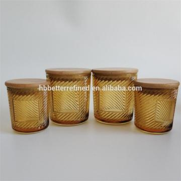 Flat Lid Glass Jar For Candle Making