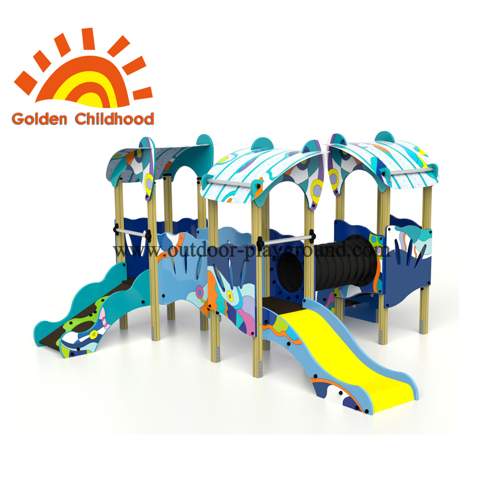 Colourful Tube Bridge Outdoor Playground Facility For Children