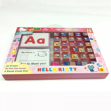 plastic cartoon letter stationery stamp set