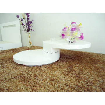 Discount Price for China Coffee Table,Modern Coffee Table,Wood Coffee Table,Living Room Coffee Table Manufacturer Coffee Table Small Rotatable Glossy White export to South Korea Factory