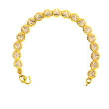 Best quality and factory for China K Gold Bracelet,K Gold Bracelet Lathe Carved,Lucky Leaf K Gold Bracelet Manufacturer and Supplier Bracelet K Gold Electroplated Silver & Gold Color export to New Caledonia Suppliers