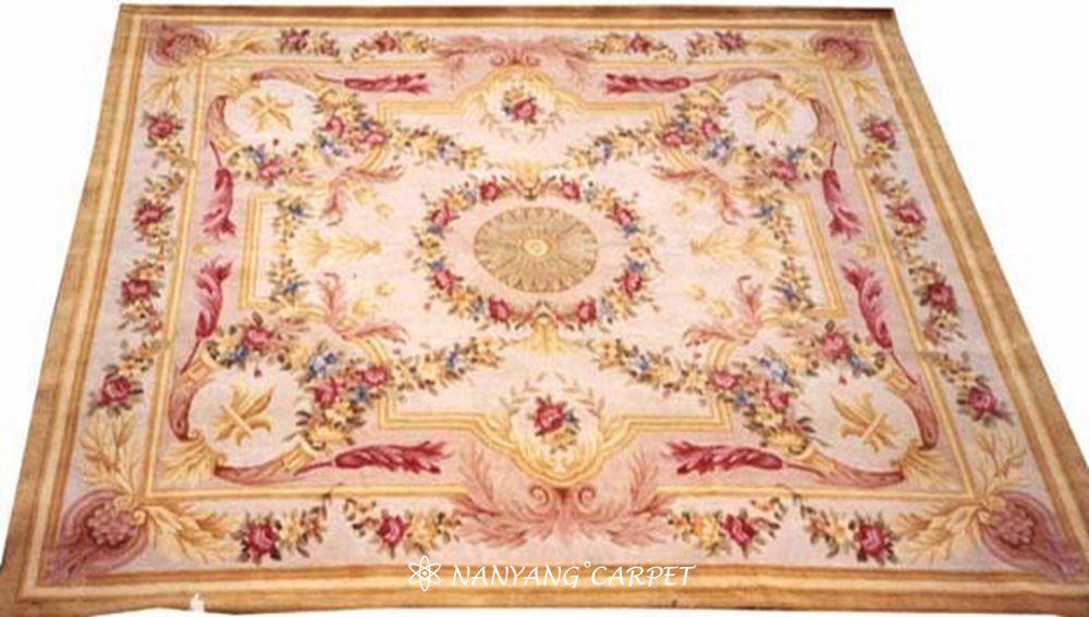 handwoven Savonnerie rug