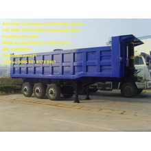 Low Cost for Skeleton Semi Trailer Sinotruk cimc   3Axles Tipping Trailer Truck export to Canada Factories