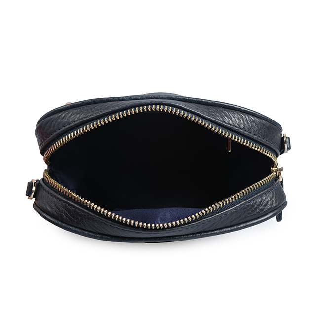 Vintage Round Shape Real Leather Crossbody Bag
