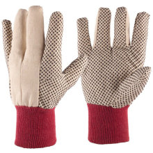 Canvas Gardening Gloves with 3/4 PVC Dot