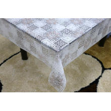 Printed pvc lace tablecloth by roll orange