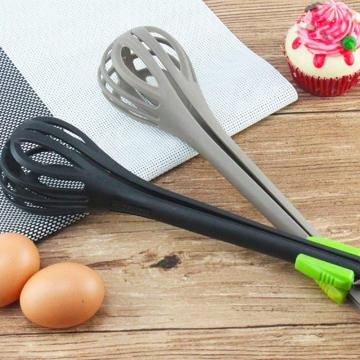 Multi-function Egg  Whisk and Food tong