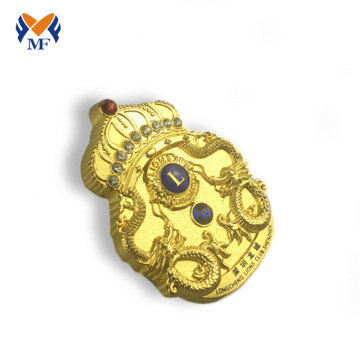 High quality metal gold plating crown badge