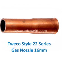 Customized for Gas Nozzles Tweco 22-62 Style Gas Nozzle 16mm export to Chile Suppliers