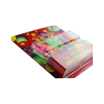 Multicolored Blister Card Party Cake Candle