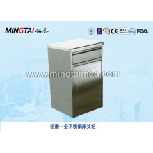 Stainless steel bedside cabinet