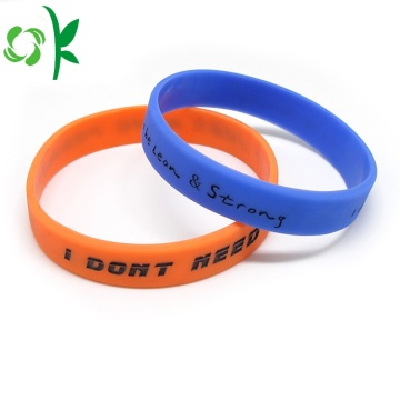Unique Printed Wristbands Fashion Jewelry Silicone Bracelet