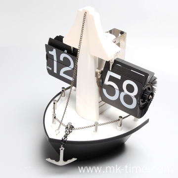 Attractive gift item retro Ship flip clock