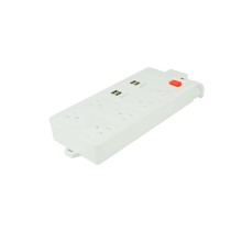 Wholesale price stable quality for Power Extension Socket USA 6-gang power strip with 4 usb ports supply to Puerto Rico Manufacturer