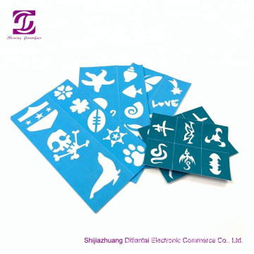 Reusable skin harmless face paint stencils