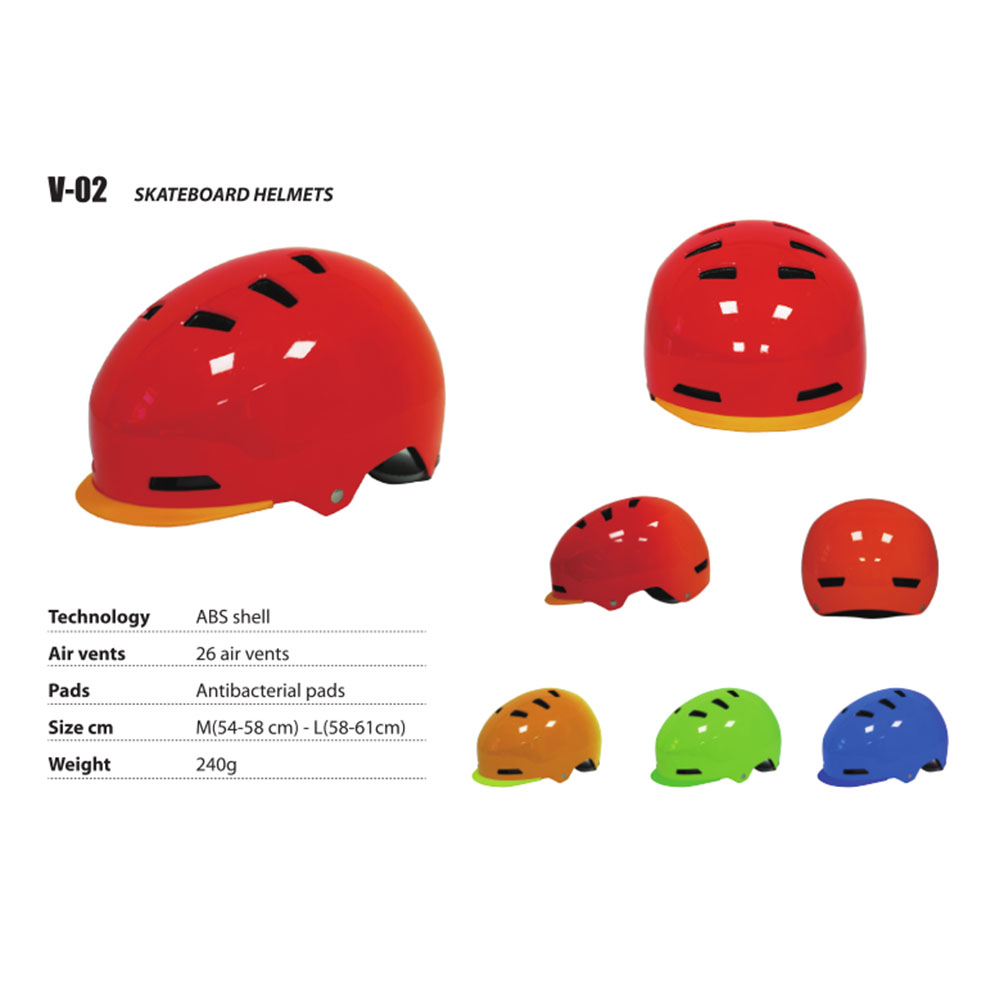 Red Skateboard Helmet