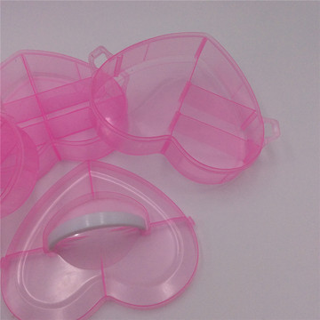 handle heart plastic jewelry box organizer
