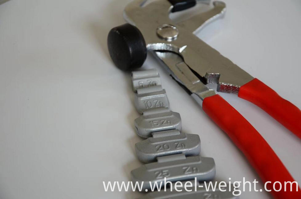 Zn clip-on balance wheel weight for steel rim 3