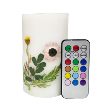 Machine Make White Flameless Scented Craft Candle