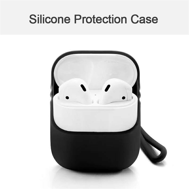 Silicone Protective Case For Apple Airpods With Strap 2