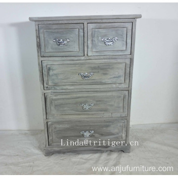 Country style high quality blue solid wood kitchen cabinet for wholesale
