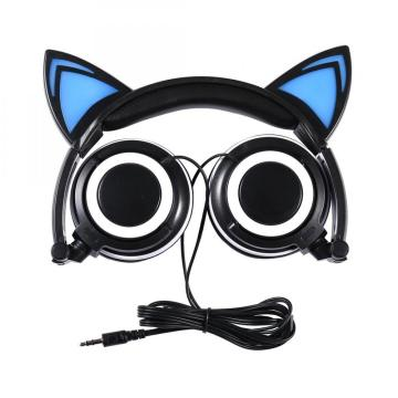 Custom Logo Wired Stereo Cat Headphones