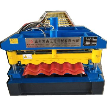 Arc glazed tile roofing machine
