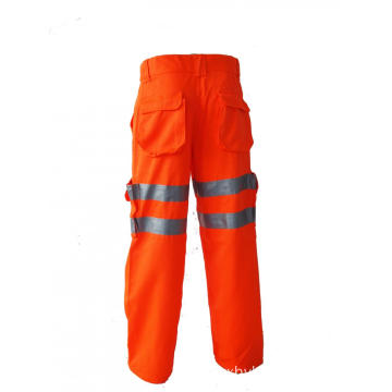 T/C High Visibility Orange Working Trousers