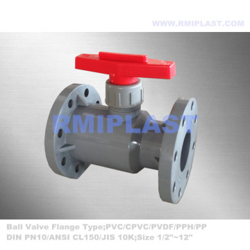 Manual Operate CPVC Ball Valve Flange End