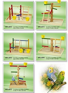 Wooden playground for bird