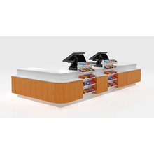 China New Product for Retail Checkout Counter Thermal Transfer Wood-Grain Checkout Counter export to Vietnam Wholesale