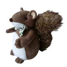 Christmas squirrel shape door stopper