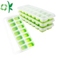 Durable 14Cavities Silicone Ice Freezer Mold With Lid